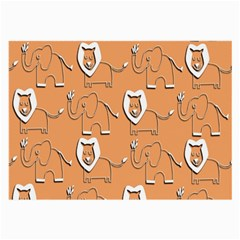 Lion Pattern Wallpaper Vector Large Glasses Cloth