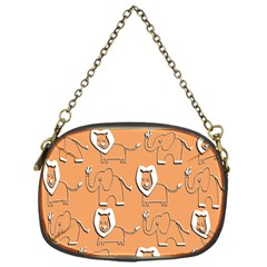 Lion Pattern Wallpaper Vector Chain Purses (one Side)