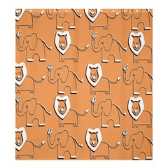 Lion Pattern Wallpaper Vector Shower Curtain 66  X 72  (large)