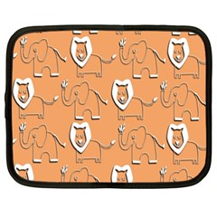 Lion Pattern Wallpaper Vector Netbook Case (xxl)
