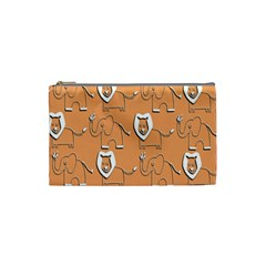 Lion Pattern Wallpaper Vector Cosmetic Bag (small)