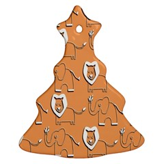 Lion Pattern Wallpaper Vector Christmas Tree Ornament (two Sides)