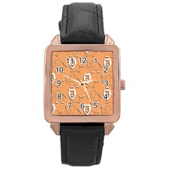 Lion Pattern Wallpaper Vector Rose Gold Leather Watch
