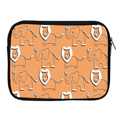 Lion Pattern Wallpaper Vector Apple Ipad 2/3/4 Zipper Cases