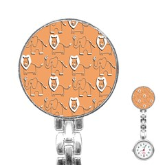Lion Pattern Wallpaper Vector Stainless Steel Nurses Watch