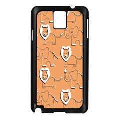 Lion Pattern Wallpaper Vector Samsung Galaxy Note 3 N9005 Case (black)