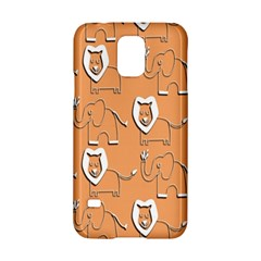 Lion Pattern Wallpaper Vector Samsung Galaxy S5 Hardshell Case