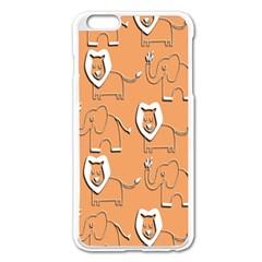 Lion Pattern Wallpaper Vector Apple Iphone 6 Plus/6s Plus Enamel White Case