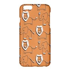 Lion Pattern Wallpaper Vector Apple Iphone 6 Plus/6s Plus Hardshell Case