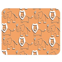 Lion Pattern Wallpaper Vector Double Sided Flano Blanket (medium)