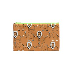 Lion Pattern Wallpaper Vector Cosmetic Bag (xs)