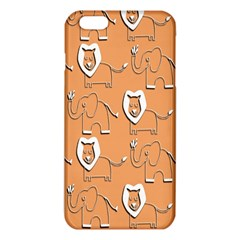 Lion Pattern Wallpaper Vector Iphone 6 Plus/6s Plus Tpu Case
