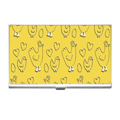 Chicken Chick Pattern Wallpaper Business Card Holders