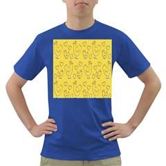 Chicken Chick Pattern Wallpaper Dark T Shirt