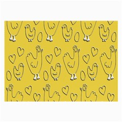 Chicken Chick Pattern Wallpaper Large Glasses Cloth