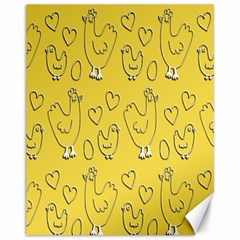 Chicken Chick Pattern Wallpaper Canvas 11  X 14