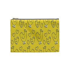 Chicken Chick Pattern Wallpaper Cosmetic Bag (medium)