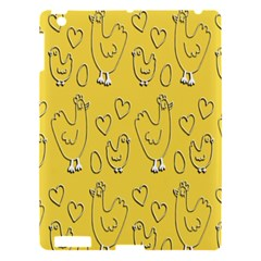 Chicken Chick Pattern Wallpaper Apple Ipad 3/4 Hardshell Case