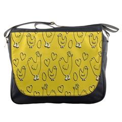 Chicken Chick Pattern Wallpaper Messenger Bags