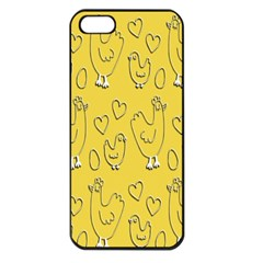 Chicken Chick Pattern Wallpaper Apple Iphone 5 Seamless Case (black)