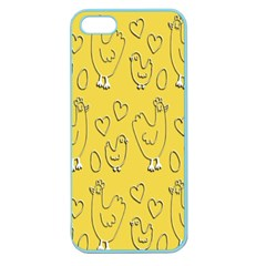 Chicken Chick Pattern Wallpaper Apple Seamless Iphone 5 Case (color)