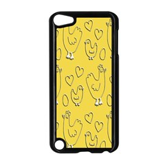 Chicken Chick Pattern Wallpaper Apple Ipod Touch 5 Case (black)