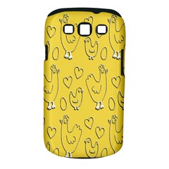 Chicken Chick Pattern Wallpaper Samsung Galaxy S Iii Classic Hardshell Case (pc+silicone)