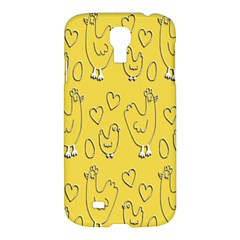 Chicken Chick Pattern Wallpaper Samsung Galaxy S4 I9500/i9505 Hardshell Case