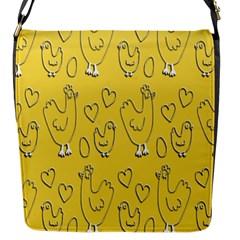 Chicken Chick Pattern Wallpaper Flap Messenger Bag (s)