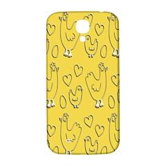 Chicken Chick Pattern Wallpaper Samsung Galaxy S4 I9500/i9505  Hardshell Back Case