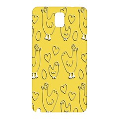 Chicken Chick Pattern Wallpaper Samsung Galaxy Note 3 N9005 Hardshell Back Case