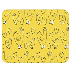 Chicken Chick Pattern Wallpaper Double Sided Flano Blanket (medium)