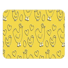 Chicken Chick Pattern Wallpaper Double Sided Flano Blanket (large)