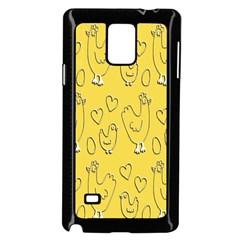 Chicken Chick Pattern Wallpaper Samsung Galaxy Note 4 Case (black)