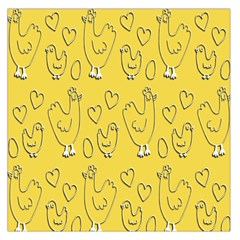 Chicken Chick Pattern Wallpaper Large Satin Scarf (square)