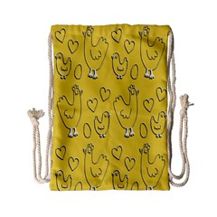 Chicken Chick Pattern Wallpaper Drawstring Bag (small)