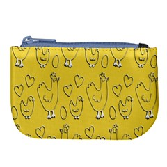 Chicken Chick Pattern Wallpaper Large Coin Purse