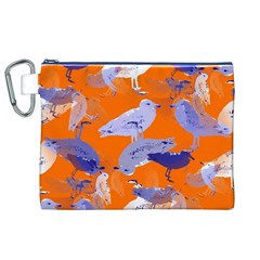 Seagull Gulls Coastal Bird Bird Canvas Cosmetic Bag (xl)