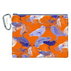 Seagull Gulls Coastal Bird Bird Canvas Cosmetic Bag (xxl)