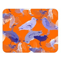 Seagull Gulls Coastal Bird Bird Double Sided Flano Blanket (large)