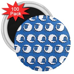 Sheep Pattern Wallpaper Vector 3  Magnets (100 Pack)