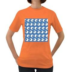 Sheep Pattern Wallpaper Vector Women s Dark T Shirt