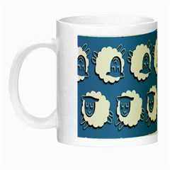 Sheep Pattern Wallpaper Vector Night Luminous Mugs