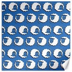 Sheep Pattern Wallpaper Vector Canvas 16  X 16
