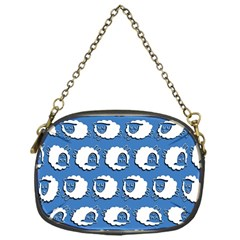 Sheep Pattern Wallpaper Vector Chain Purses (one Side)