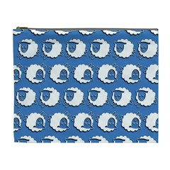 Sheep Pattern Wallpaper Vector Cosmetic Bag (xl)