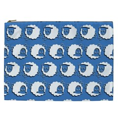 Sheep Pattern Wallpaper Vector Cosmetic Bag (xxl)