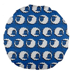 Sheep Pattern Wallpaper Vector Large 18  Premium Round Cushions