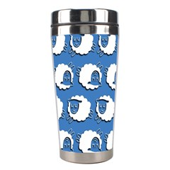 Sheep Pattern Wallpaper Vector Stainless Steel Travel Tumblers