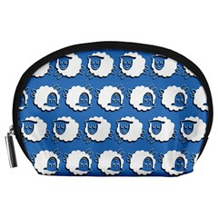 Sheep Pattern Wallpaper Vector Accessory Pouches (large)